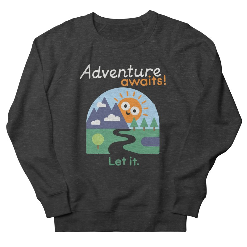 The Road Not Taken Men's French Terry Sweatshirt by David Olenick