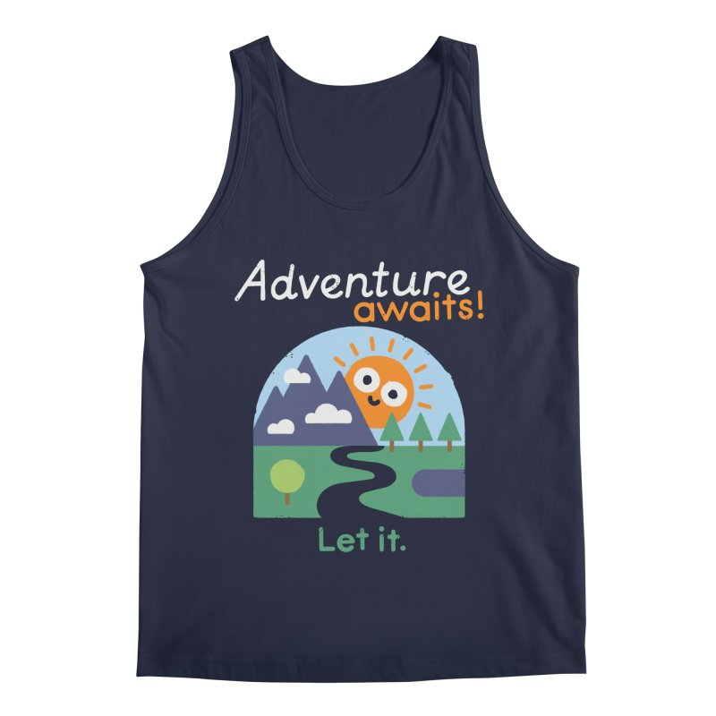 The Road Not Taken Men's Regular Tank by David Olenick