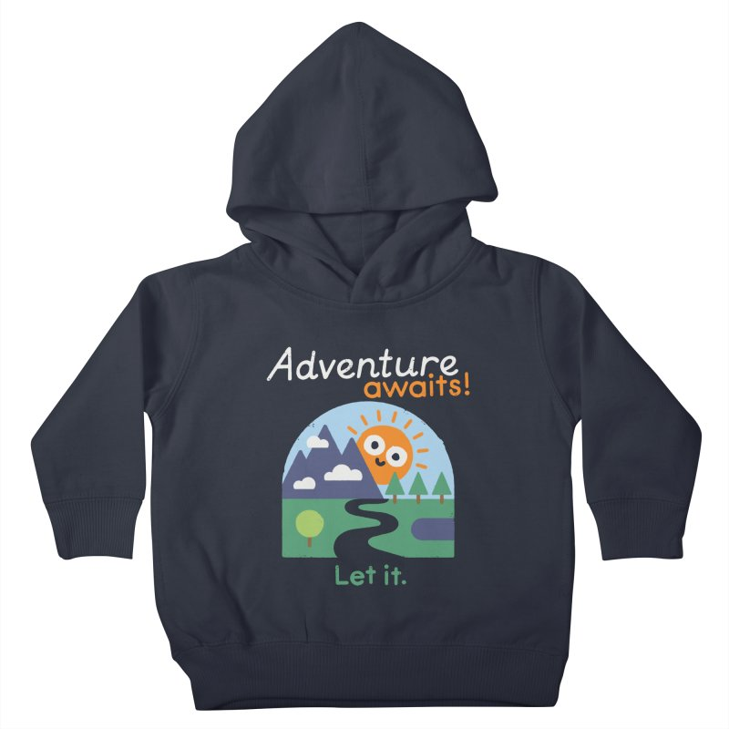 The Road Not Taken Kids Toddler Pullover Hoody by David Olenick
