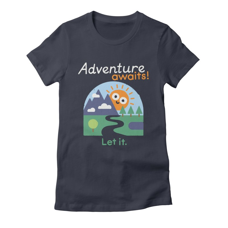 The Road Not Taken Women's Fitted T-Shirt by David Olenick