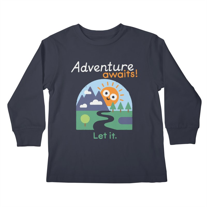 The Road Not Taken Kids Longsleeve T-Shirt by David Olenick
