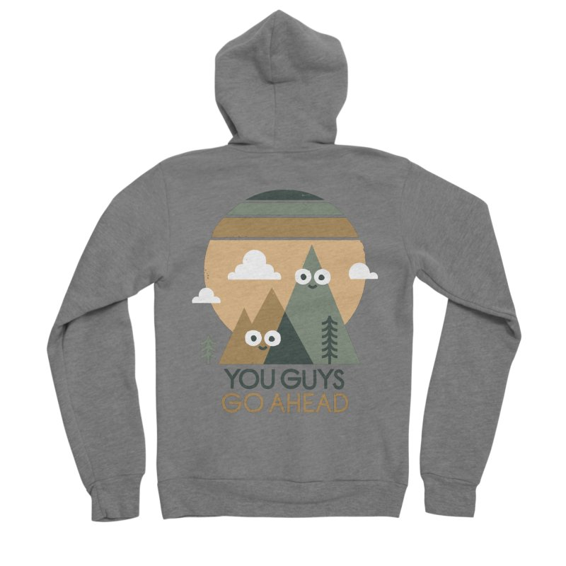 Mountain Don't Men's Sponge Fleece Zip-Up Hoody by David Olenick