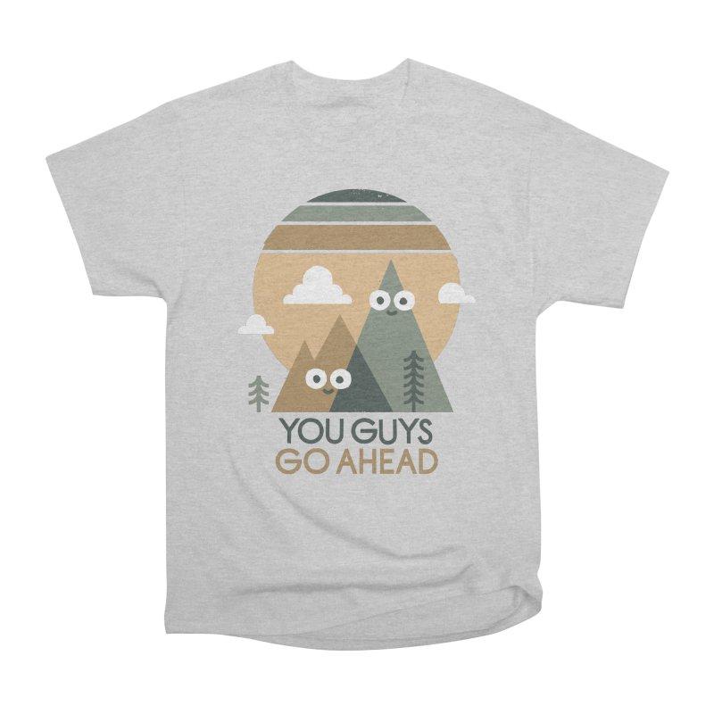 Mountain Don't Men's Heavyweight T-Shirt by David Olenick