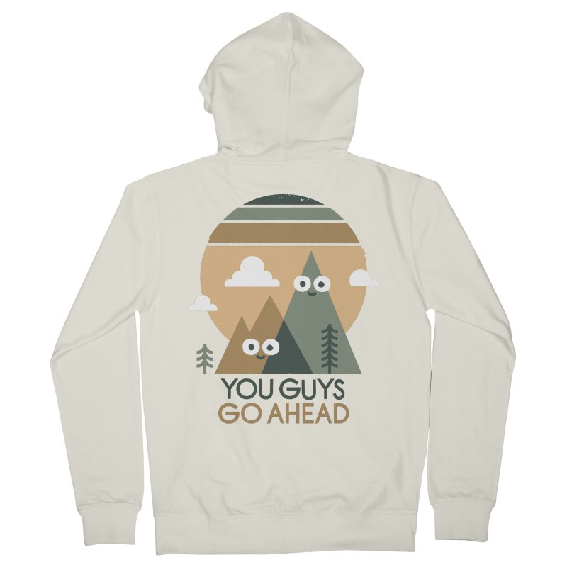 Mountain Don't Men's French Terry Zip-Up Hoody by David Olenick