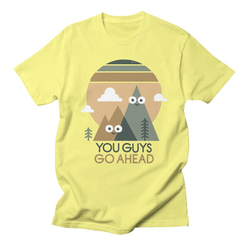 Mountain Don't Men's T-Shirt by David Olenick