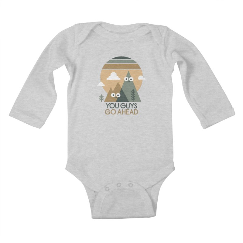 Mountain Don't Kids Baby Longsleeve Bodysuit by David Olenick