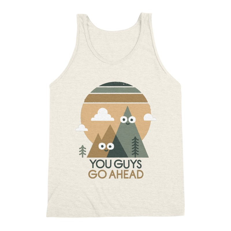 Mountain Don't Men's Triblend Tank by David Olenick