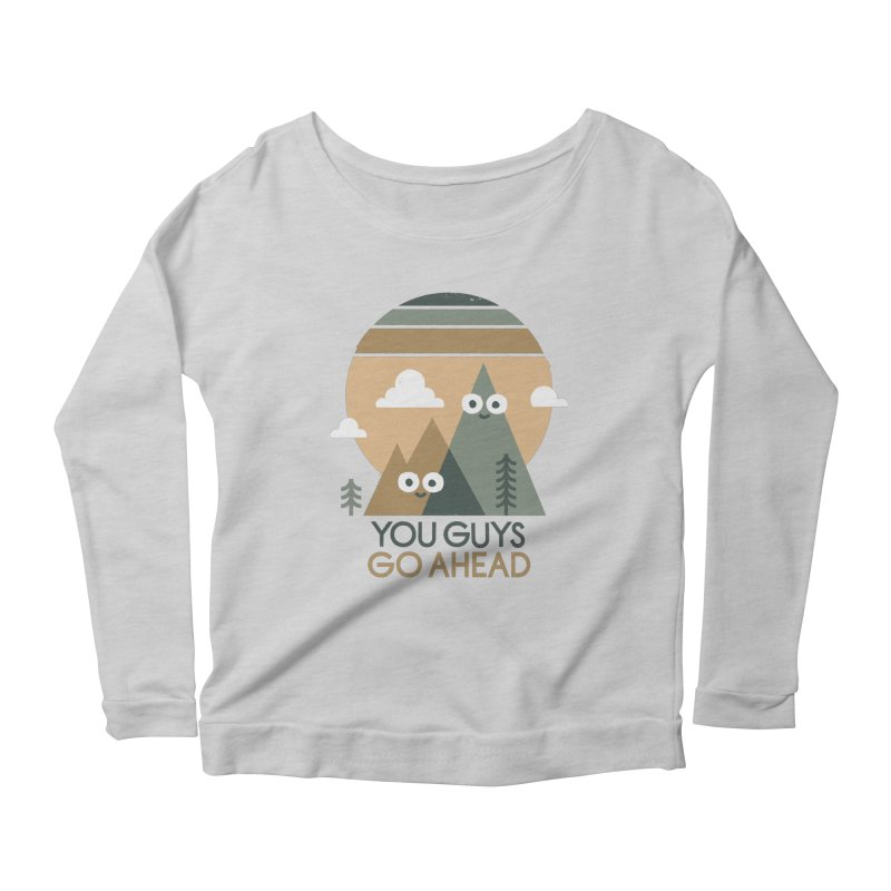 Mountain Don't Women's Scoop Neck Longsleeve T-Shirt by David Olenick