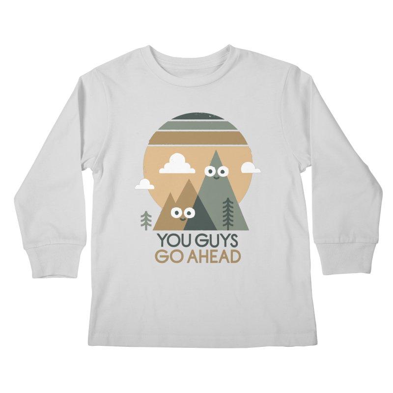 Mountain Don't Kids Longsleeve T-Shirt by David Olenick