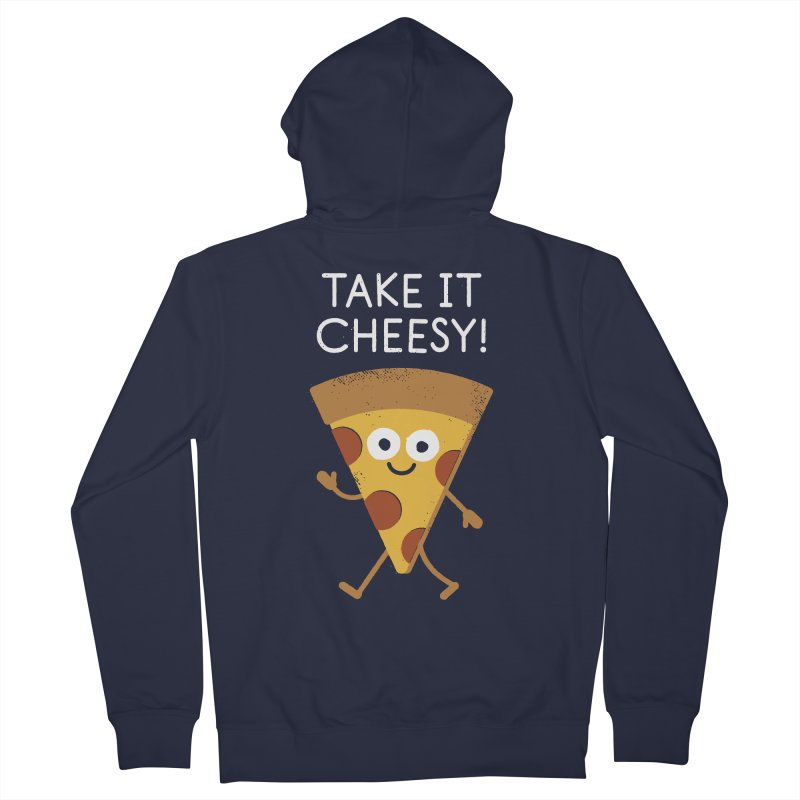 Chill Out, Order In Women's French Terry Zip-Up Hoody by David Olenick