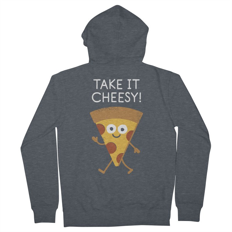 Chill Out, Order In Men's French Terry Zip-Up Hoody by David Olenick