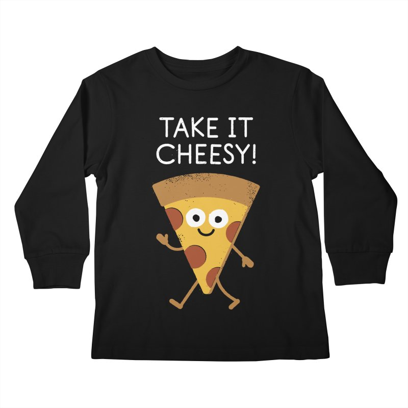 Chill Out, Order In Kids Longsleeve T-Shirt by David Olenick