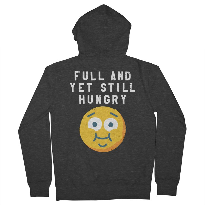Perpetual-motional Eating Women's French Terry Zip-Up Hoody by David Olenick
