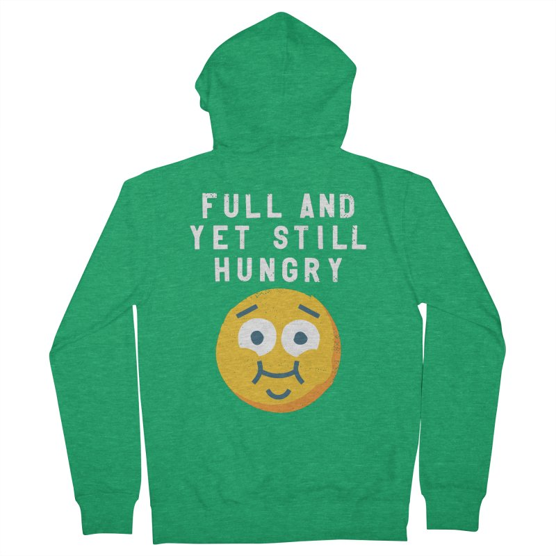 Perpetual-motional Eating Men's French Terry Zip-Up Hoody by David Olenick