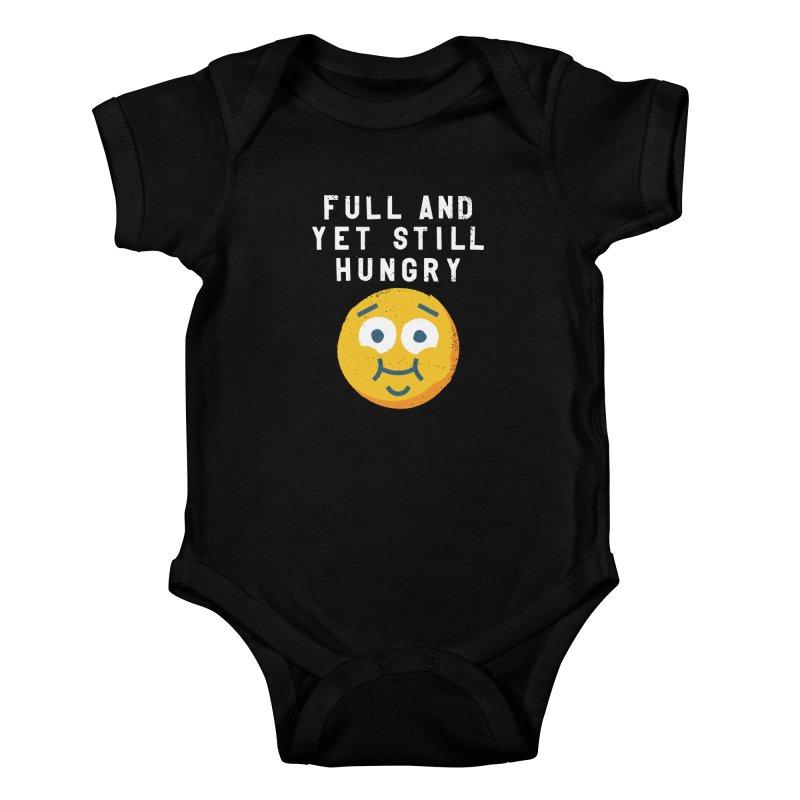 Perpetual-motional Eating Kids Baby Bodysuit by David Olenick