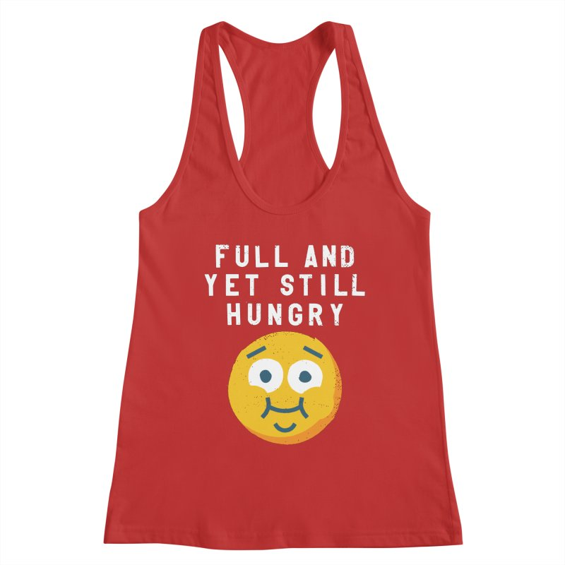 Perpetual-motional Eating Women's Racerback Tank by David Olenick