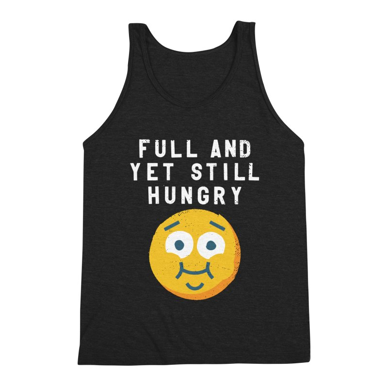 Perpetual-motional Eating Men's Triblend Tank by David Olenick