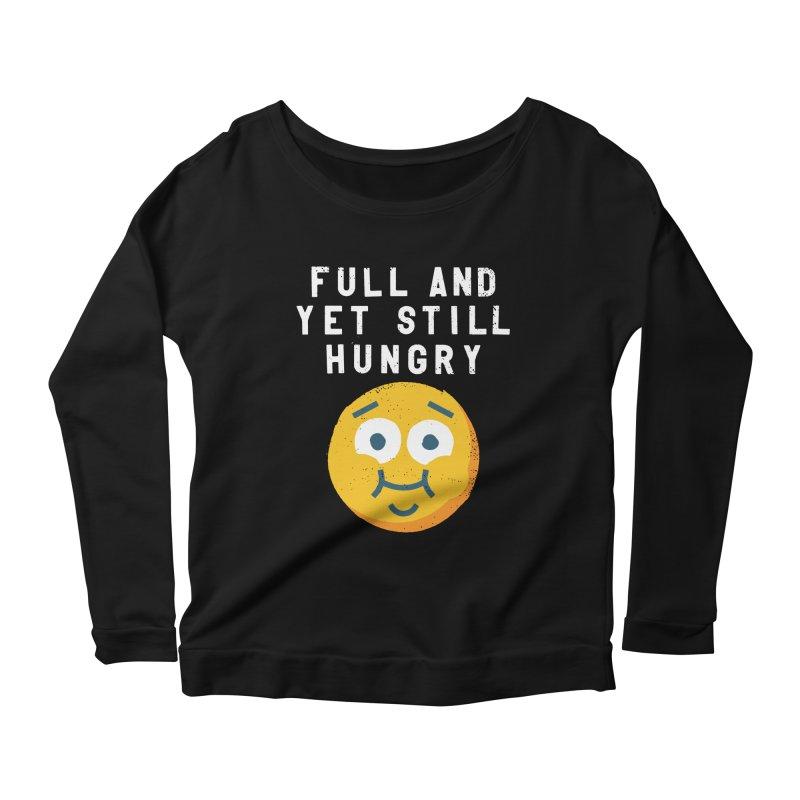 Perpetual-motional Eating Women's Scoop Neck Longsleeve T-Shirt by David Olenick