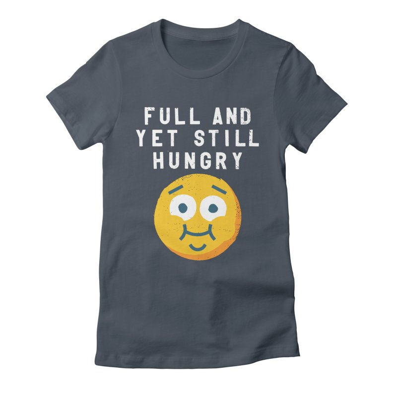 Perpetual-motional Eating Women's Fitted T-Shirt by David Olenick