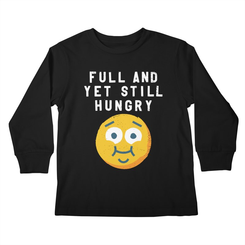 Perpetual-motional Eating Kids Longsleeve T-Shirt by David Olenick