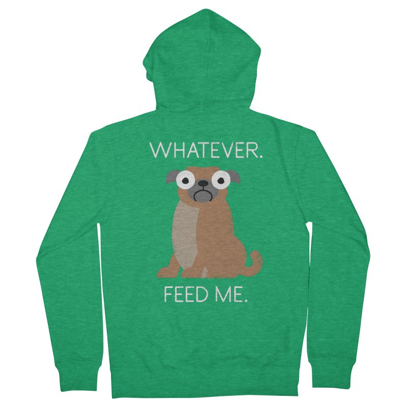 The Pugly Truth Men's Zip-Up Hoody by David Olenick