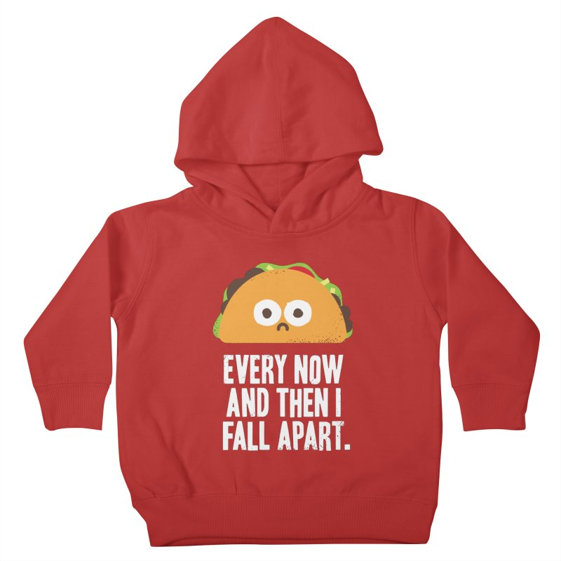 Taco Eclipse of the Heart Kids Toddler Pullover Hoody by David Olenick