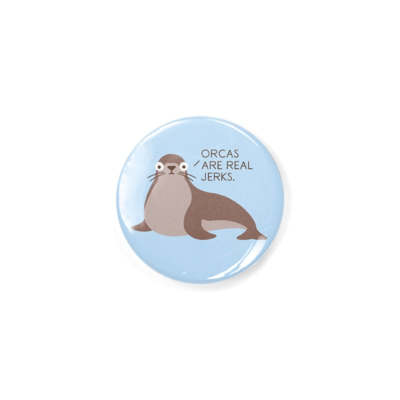 Seal of Reproval Accessories Button by David Olenick