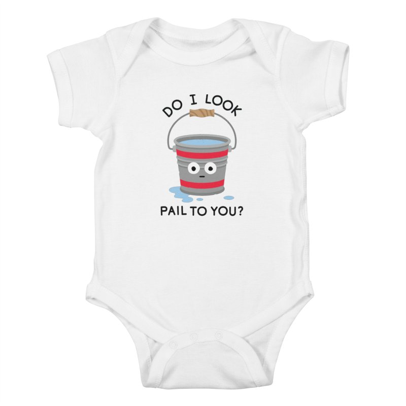 Not Filling Well Kids Baby Bodysuit by David Olenick