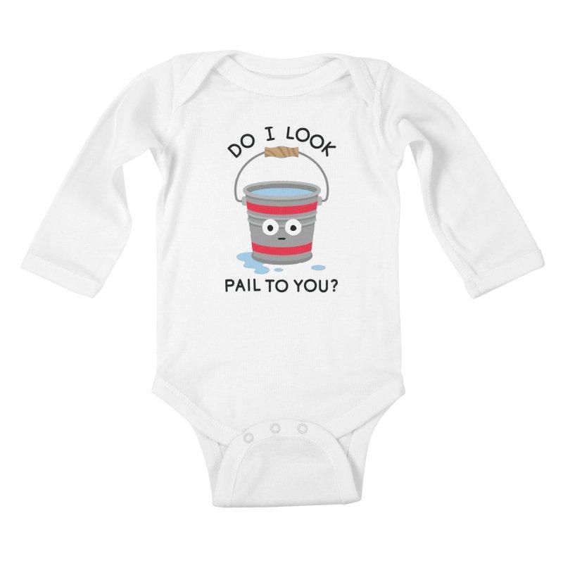 Not Filling Well Kids Baby Longsleeve Bodysuit by David Olenick