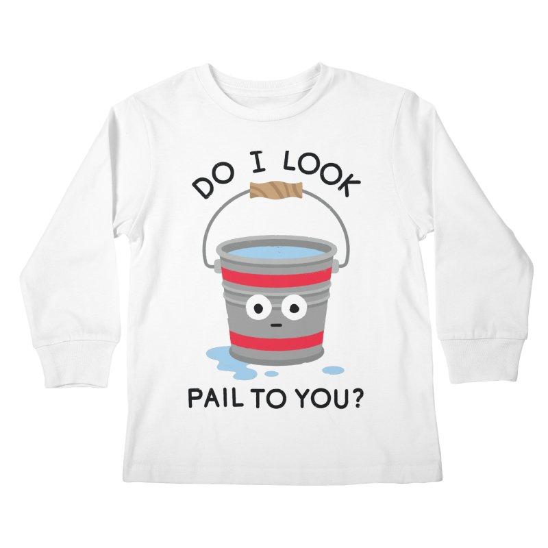 Not Filling Well Kids Longsleeve T-Shirt by David Olenick