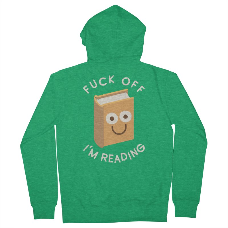 All Booked Up Men's Zip-Up Hoody by David Olenick