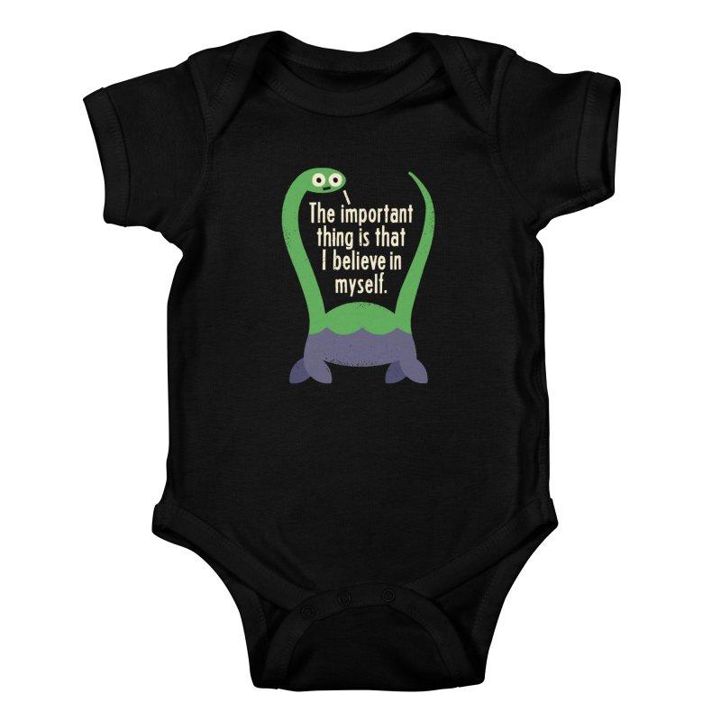 Myth Understood Kids Baby Bodysuit by David Olenick