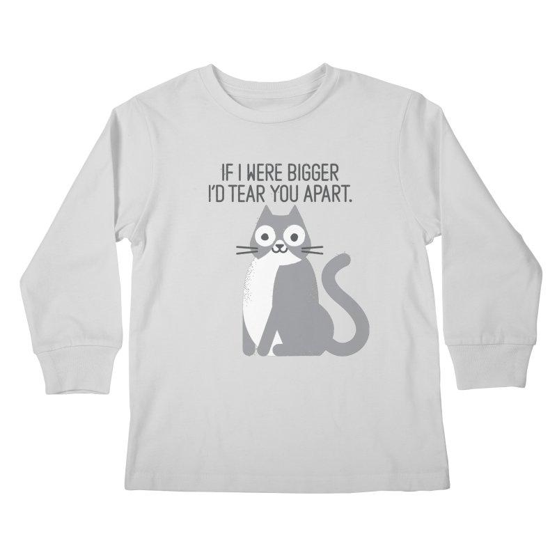Purrfectly Honest Kids Longsleeve T-Shirt by David Olenick