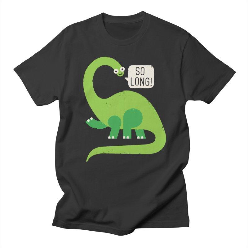 Au Revoirosaurus Men's T-Shirt by David Olenick