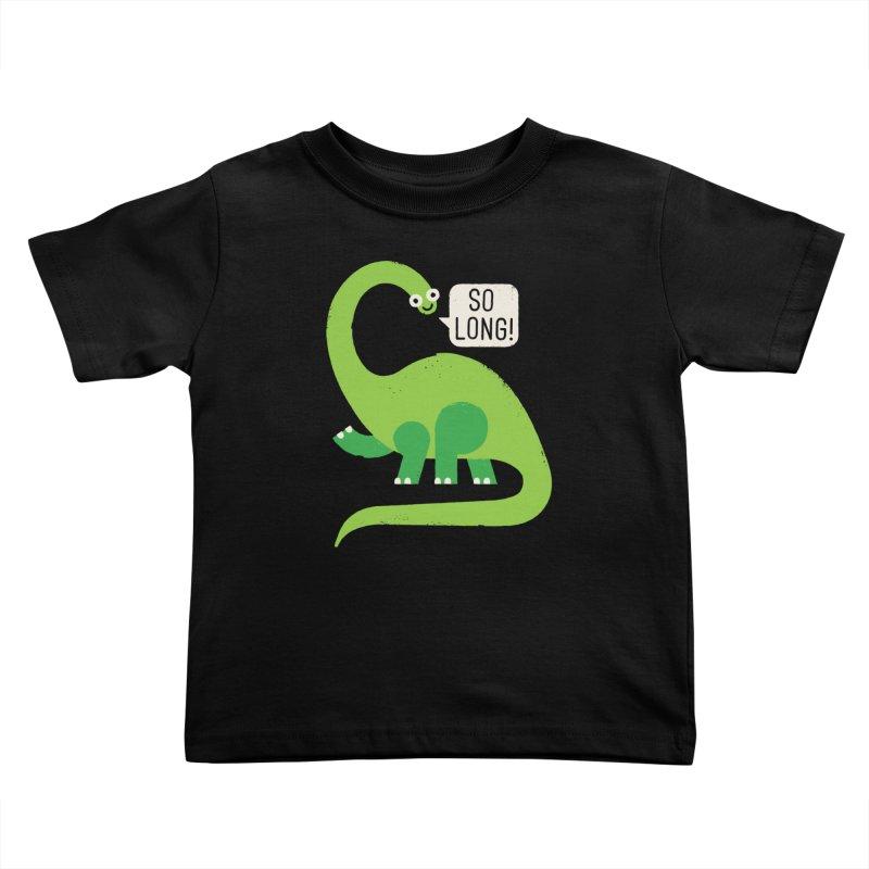 Au Revoirosaurus Kids Toddler T-Shirt by David Olenick