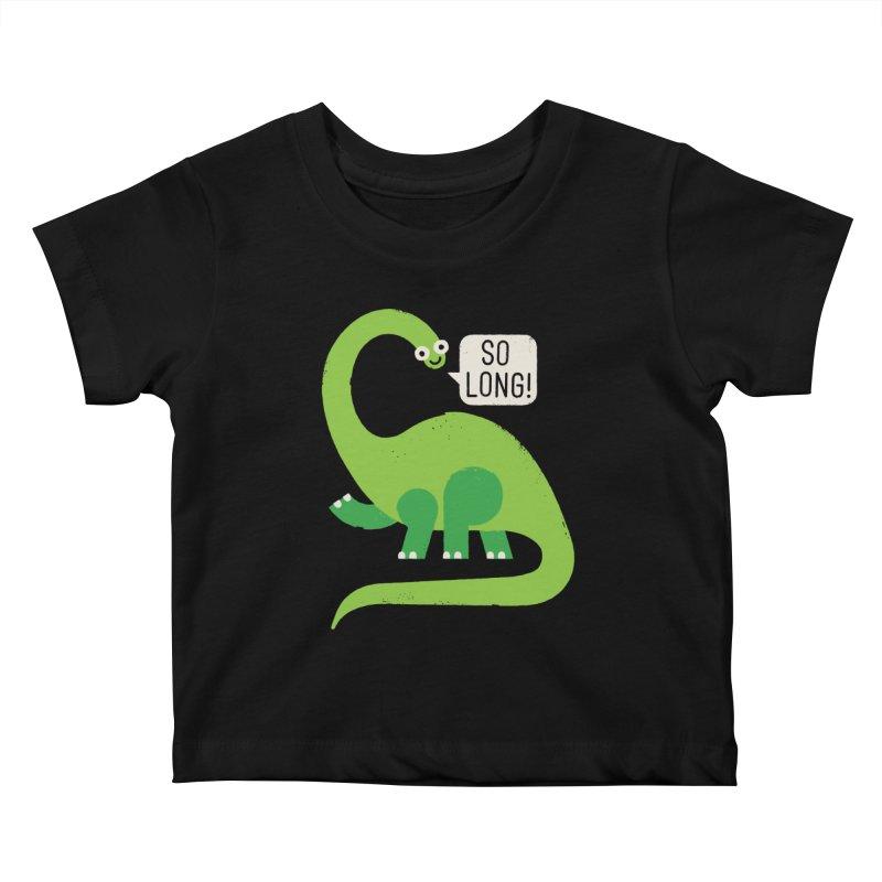Au Revoirosaurus Kids Baby T-Shirt by David Olenick