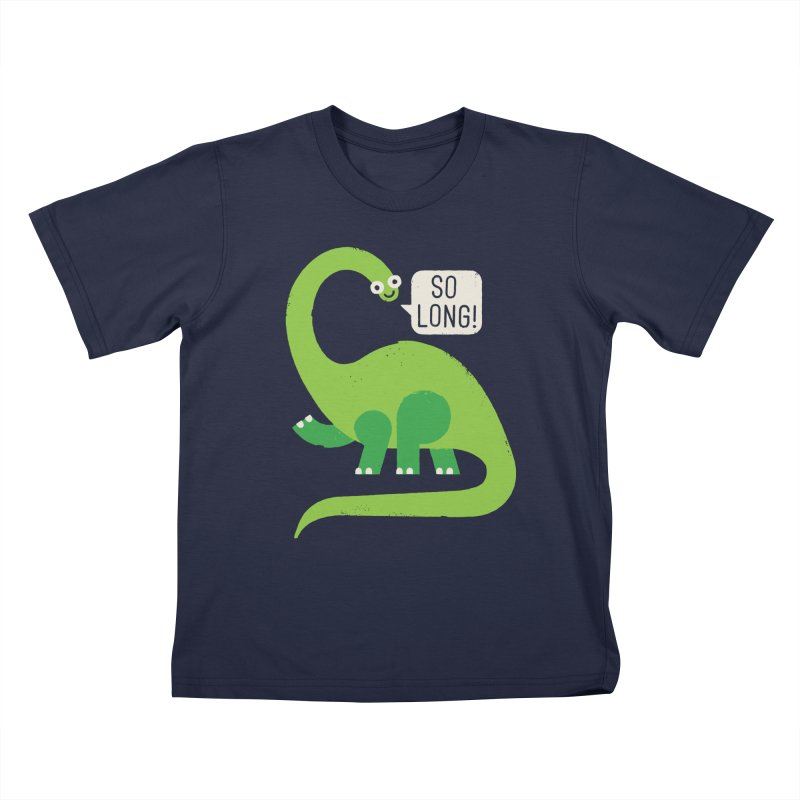 Au Revoirosaurus Kids T-Shirt by David Olenick