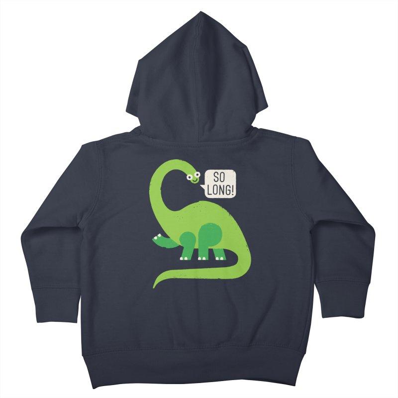 Au Revoirosaurus Kids Toddler Zip-Up Hoody by David Olenick