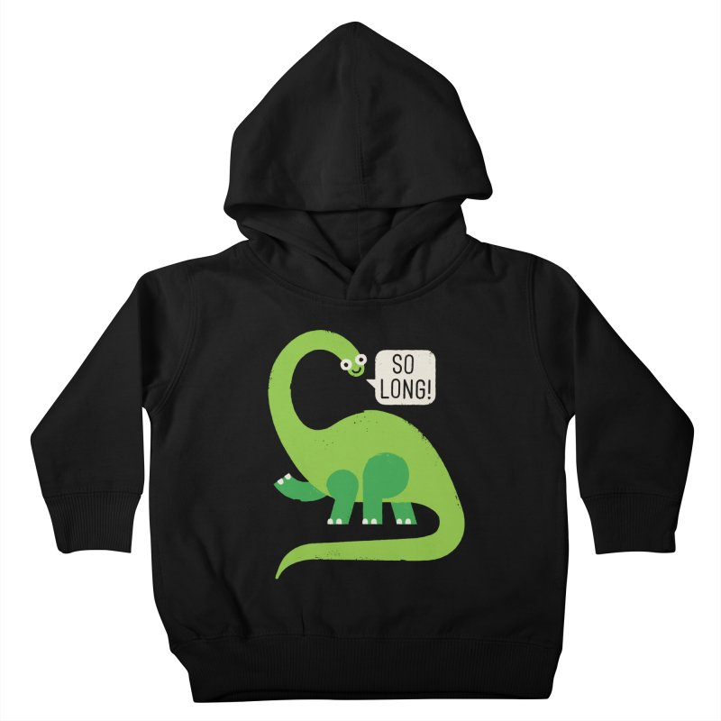 Au Revoirosaurus Kids Toddler Pullover Hoody by David Olenick