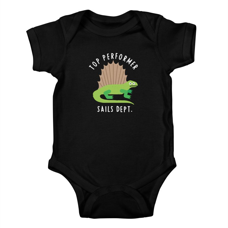 Dimetrodon't Take No for an Answer Kids Baby Bodysuit by David Olenick