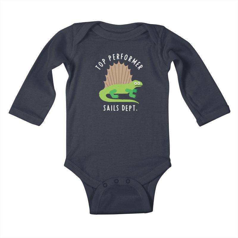 Dimetrodon't Take No for an Answer Kids Baby Longsleeve Bodysuit by David Olenick