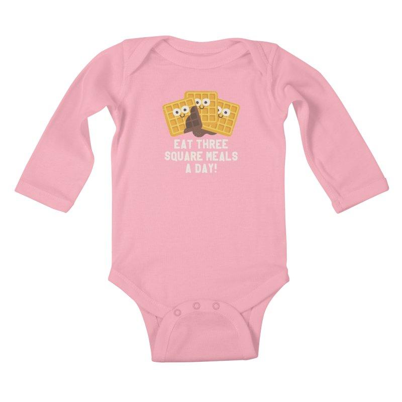 Because You Deserve Batter Kids Baby Longsleeve Bodysuit by David Olenick