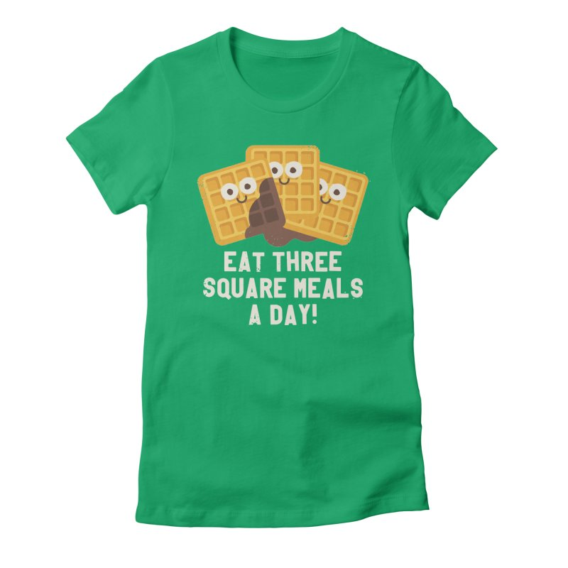 Because You Deserve Batter Women's Fitted T-Shirt by David Olenick
