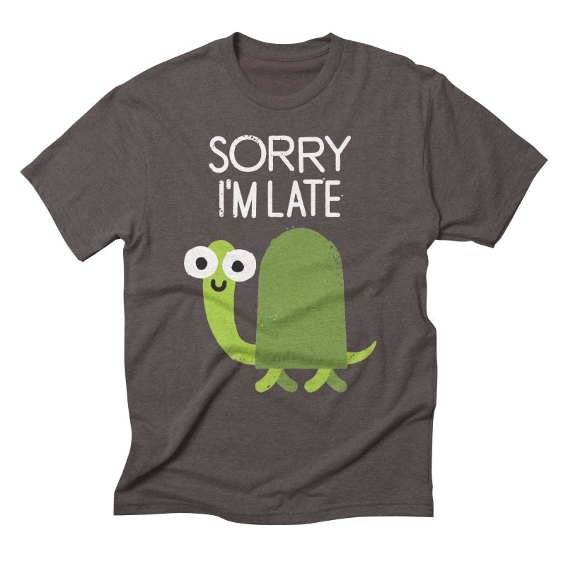 Tardy Animal Men's Triblend T-shirt by David Olenick