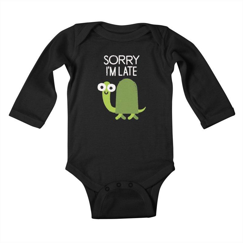 Tardy Animal Kids Baby Longsleeve Bodysuit by David Olenick