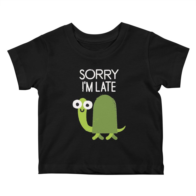 Tardy Animal Kids Baby T-Shirt by David Olenick