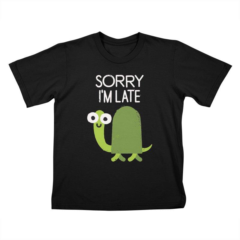 Tardy Animal Kids T-shirt by David Olenick