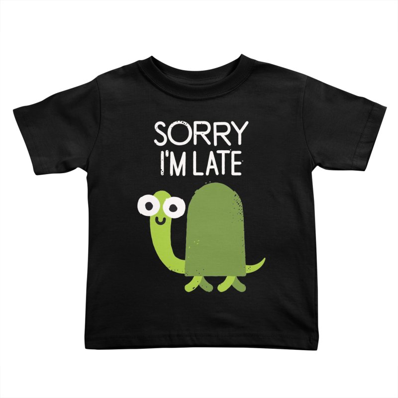 Tardy Animal Kids Toddler T-Shirt by David Olenick
