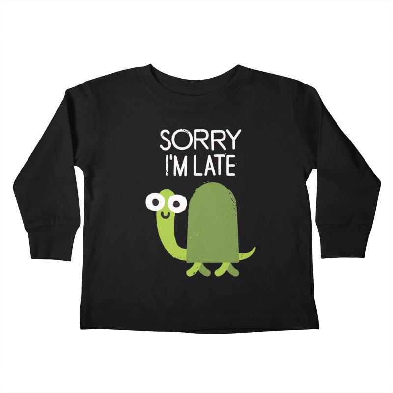 Tardy Animal Kids Toddler Longsleeve T-Shirt by David Olenick