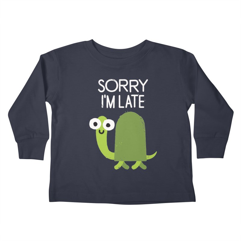 Tardy Animal Kids Toddler Longsleeve T-Shirt by David Olenick